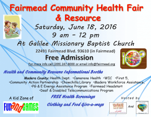 Health Fair flyer FCF 6-18-16 w-resources